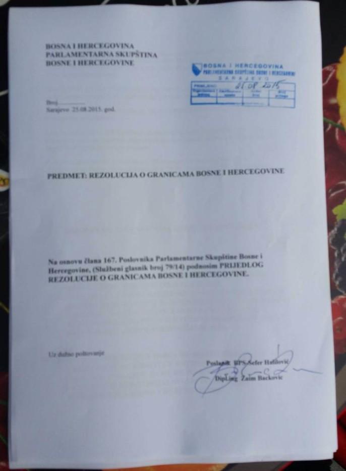 Parlament BIH: PODNIJETA REZOLUCIJA O GRANICAMA U PARLAMENTU BIH!